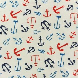 Tissu Jersey Sailing Anchor beige x 10cm