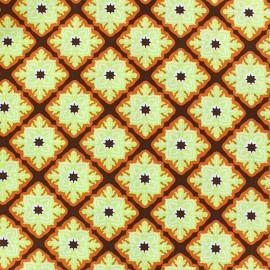 Tissu Sunrise Square ornaments anis/orange x 10cm