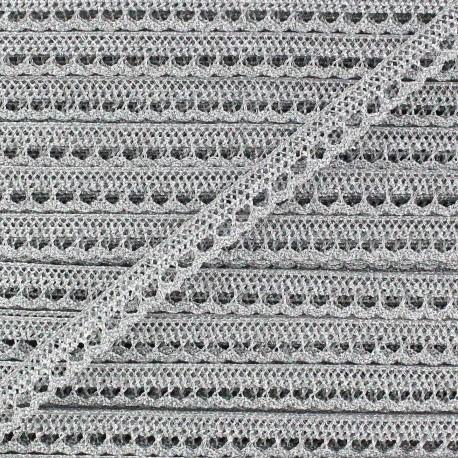 Lace Lurex ribbon x 1 m - silver