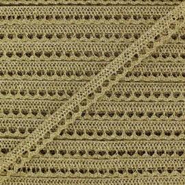 Ruban Dentelle Lurex doré x 1 m