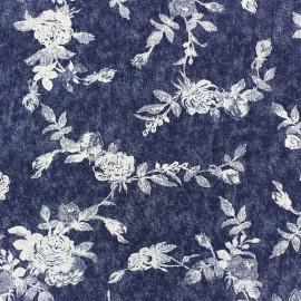 Tissu Jeans fluide Rosier dark x 10cm