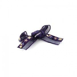 Flowered Bow Tie to glue/to sew - purple