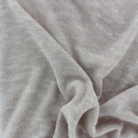 Light stitch Thread Lurex fabric - Blush x 10cm