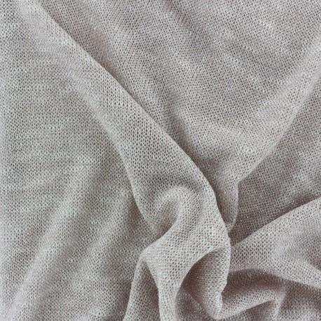 Tissu Maille Légère Fil Lurex Blush x 10cm