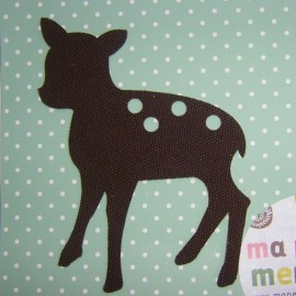 Fown iron-on applique - brown