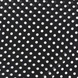 Tissu Mousseline little dots fond noir x 50cm