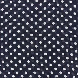 Tissu Mousseline little dots fond marine x 50cm