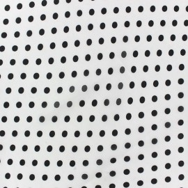 Little Dots Muslin Fabric - White x 50cm