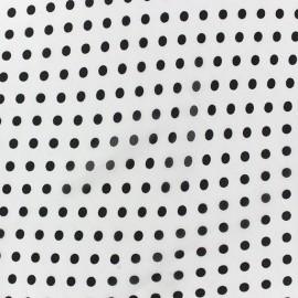 Tissu Mousseline little dots fond blanc x 50cm