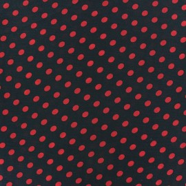 Little Dots Muslin Fabric - Red / Black x 50cm