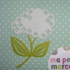 Achilee milfoil iron-on applique - green