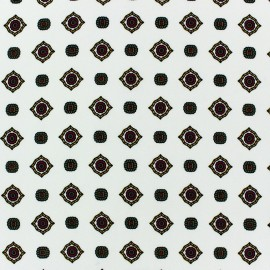 Tissu crêpe Lavallière fond écru x 10cm