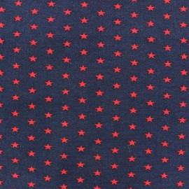 Stars Jersey Fabric - Red / Navy x 10cm