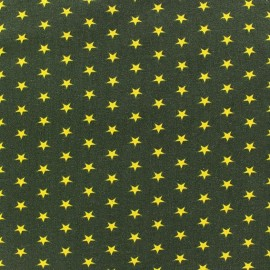 Stars Jersey Fabric - Yellow / Green x 10cm