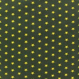 Tissu jersey Poppy Stars jaune fond vert x 10cm
