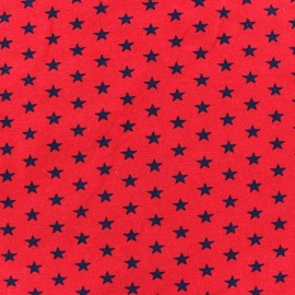 Stars Jersey Fabric - Navy / Red x 10cm