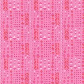 Tissu Paradiso Hibiscus Pink x 10cm
