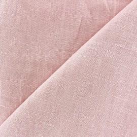 Tissu lin lavé (laize: 135cm) rose dragée x 10cm