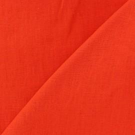 Washed Linen (135cm) Fabric - Orange x 10cm
