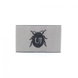 Beetle Coat-of-Arms iron-on applique - black