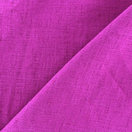 Washed Linen (135cm) Fabric - Dark Purple x 10cm