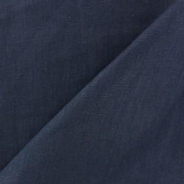 Tissu lin lavé (laize: 135cm) marine x 10cm