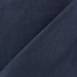 Washed Linen (135cm) Fabric - Navy x 10cm