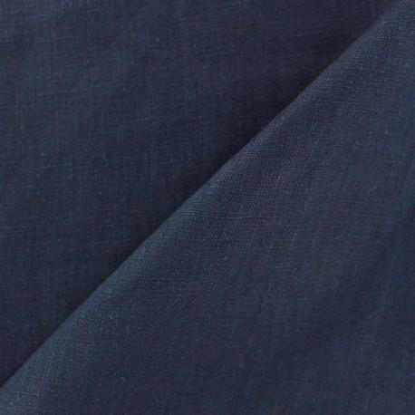 Tissu lin biologique marine x 10cm