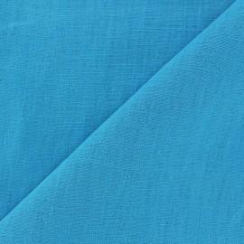 Tissu lin lavé (laize: 135cm) turquoise x 10cm