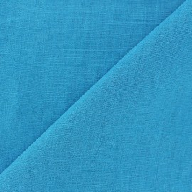 Washed Linen (135cm) Fabric - Turquoise x 10cm