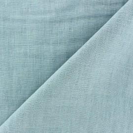 Tissu lin biologique vert d'eau x 10cm