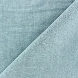 Washed Linen (135cm) Fabric - Green Sea x 10cm