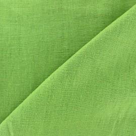 Tissu lin lavé (laize: 135cm) vert pistache x 10cm