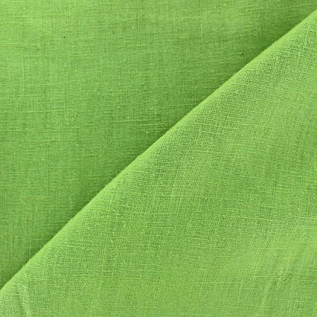 Tissu lin biologique vert pistache x 10cm