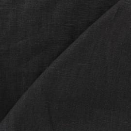 Tissu lin lavé (laize: 135cm) noir x 10cm
