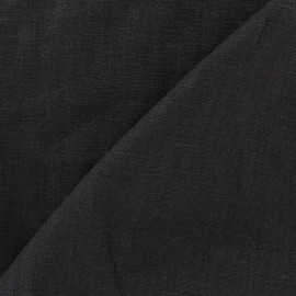 Washed Linen (135cm) Fabric - Black x 10cm