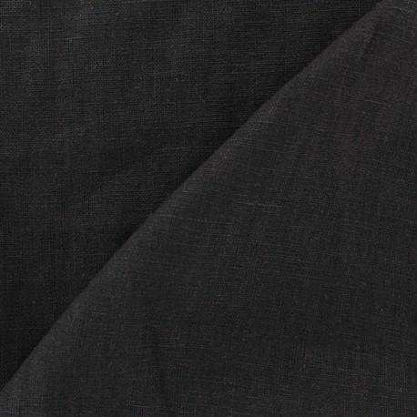 Washed Linen (135cm) Fabric - Black x 10cm