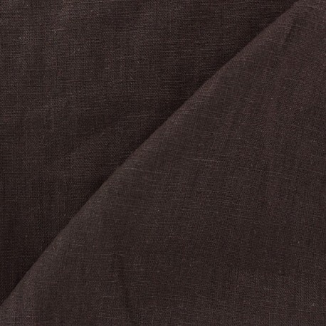 Washed Linen (135cm) Fabric - Brown x 10cm