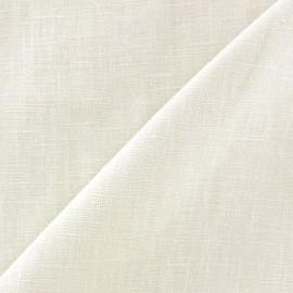 Tissu lin lavé (laize: 135cm) écru x 10cm