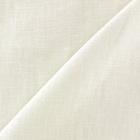 Washed Linen (135cm) Fabric - Ecru x 10cm