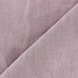 Tissu lin lavé (laize: 135cm) lilas x 10cm