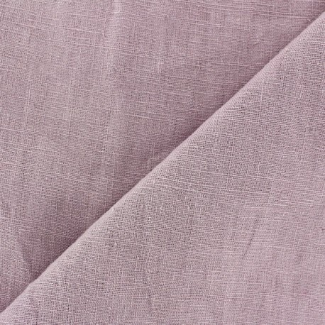 Tissu lin biologique lilas x 10cm