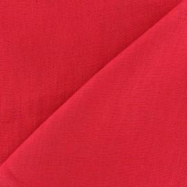 Tissu lin biologique rouge x 10cm