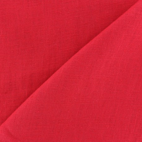 Washed Linen (135cm) Fabric - Red x 10cm