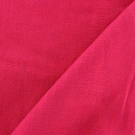 Tissu lin biologique framboise x 10cm