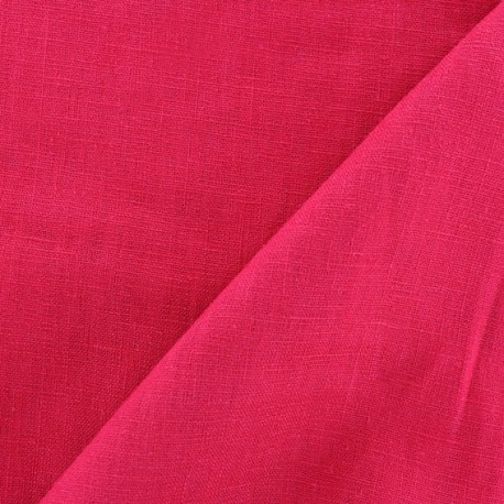 Washed Linen (135cm) Fabric - Raspberry x 10cm