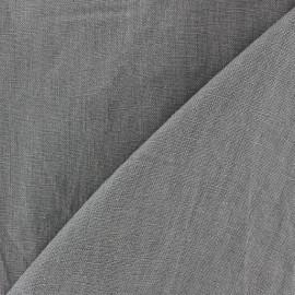 Tissu lin lavé (laize: 135cm) gris x 10cm