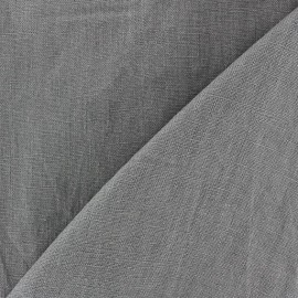 Washed Linen (135cm) Fabric - Grey x 10cm