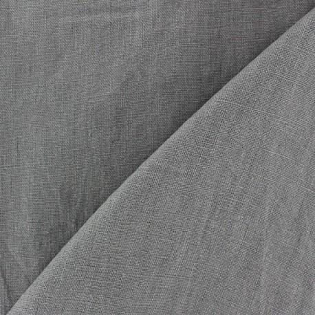 Tissu lin biologique gris x 10cm