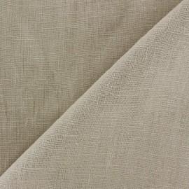 Tissu lin biologique brun clair x 10cm